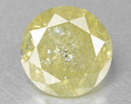 Diamond 0.30 Cts Untreated Sparkling Fancy Greyish Yellow Natural