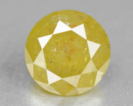 Yellow Diamond 0.34 Cts Untreated Sparkling Fancy Yellow Natural