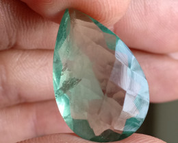 18 Ct Green Fluorite Faceted Natural Untreated Gemstone VA2014