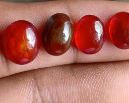 7 Cts Ethiopian Opal Brown Cabochon Natural Fire Opal Treated VA2028