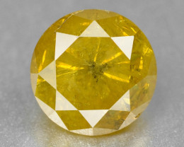Vivid Diamond 0.36 Cts Untreated Fancy Color Natural