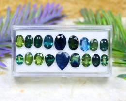 Teal Sapphire 13.79Ct VS2 Natural Australian Teal Sapphire Lot C1806