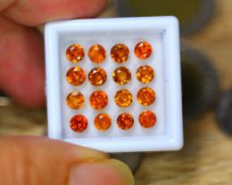 5.59ct Natural Hessonite Garnet Round Cut Lot LZ42