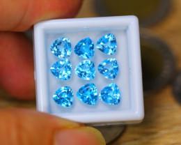 9.13Ct Natural Sky Blue Topaz Trillion Cut Lot LZ681
