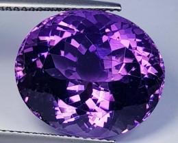 18.14 ct  Top Quality Gem Oval Cut Natural Purple Amethyst