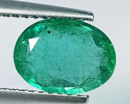 1.71 ct  Fantastic Gem  Lovely Oval Cut Natural Emerald