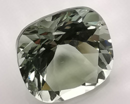 Prasiolite, 4.03ct, 100% clean good cut gem!
