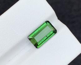3.35 carats transparent Green  colour Tourmaline Gemstone