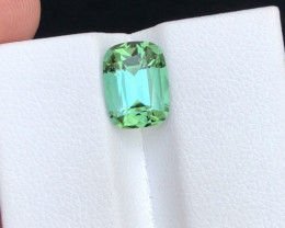 Superb Quality 3.40 Ct Mint Green Color Tourmaline From Afghanistan