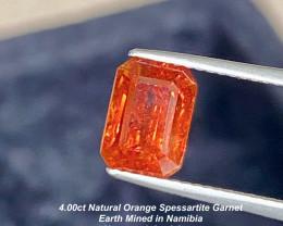 4.00ct  Orange Spessartite Garnet - Namibia / 9 x 6.3mm
