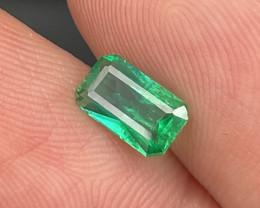 Afghanistan Panjshir Vivid Green AAA Grade Natural Emerald 0.61 Cts