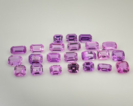 AAA Grade  23pcs Pink & purple sapphire