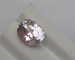 HGTL Certified 7.03 Carats Natural Kunzite Nice Cut Gemstone