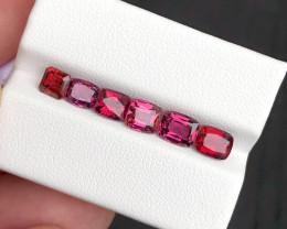 *NR*6.180(ct)Malawi Garnet Excellent Color,Cut & Luster Parcel