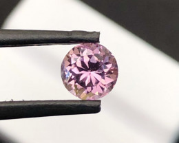 *NR*1.140(ct)Baby Pink Color Round Congo Tourmaline Faceted Gemstone