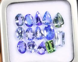 9.98cts Natural Tanzanite Gemstone LOTS / AAKL1737