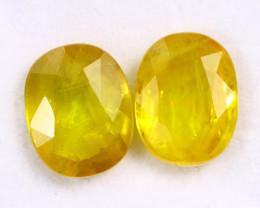 8.07cts Natural Yellow Sapphire Pairs/DMA2535