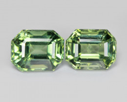 Sapphire 0.98 Cts 2Pcs Natural Fancy Green Color Gemstone