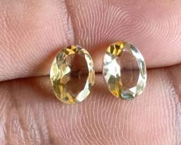 7x9mm Citrine Pair Natural Oval Faceted Gemstone VA2058