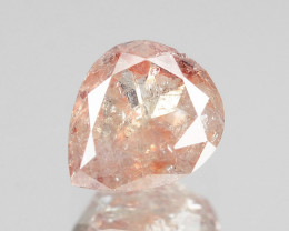 Diamond 0.28 Cts Untreated Fancy Pinkish Brown Color Natural
