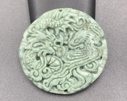 142.45 Cts Brilliant Hand Made Carving Jade.