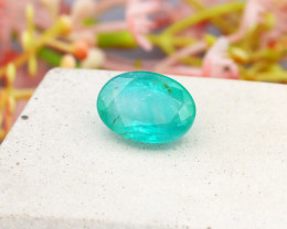 Colombian 3.52Ct Oval Cut Natural Colombian Green Emerald A2018