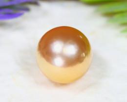 11.1mm 9.71Ct Natural Australian South Sea Golden Pearl B2022