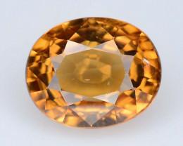 3.10 ct Cambodia Natural Yellow Brownish Zircon - Oval Shape