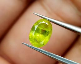 1.02Crt Green Sphene Color Change Natural Gemstones JI81