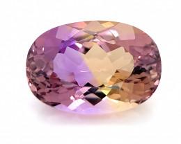 7.69 Cts  FALWLESS BOLIVIAN  AMETRINE Fancy cut   Gemstone