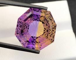 *NR*21(ct)Concave Cut Attractive Color Ametrine Gemstone
