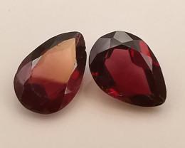 Rhodolites : 1.67ct, beautiful pair you may like!