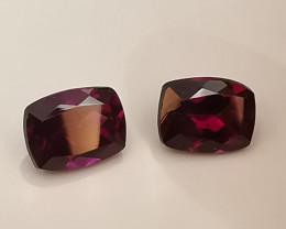 Rhodolites, 3.48ct, I'd call them pignon blood gemstones!