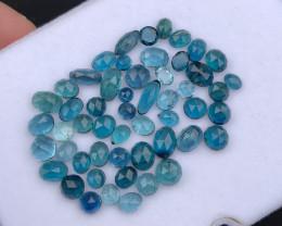 *NR*26.90(ct)Tourmaline Blue,Deep Blue,Neon & Ink Blue Rose cut Parcel