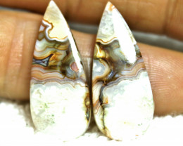 23.25 Carat Matched African Agates (30mm) - Gorgeous