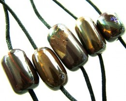 CHOCOLATE IRONSTONE BEAD PARCEL 187.85 CTS [GT 1762]