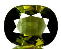 TOURMALINE 3 CARAT WEIGHT BI-COLOR GREENS OVAL CUT GEMSTONE