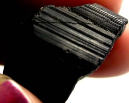 BLACK TOURMALINE ROUGH  45 CTS AS-2234