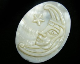 BEAUTIFUL SHELL CARVING66  CARATS TR 602
