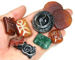 RE SELLERS DEAL SPECIAL AGATE BEADS ONLY $3.00  TR 635