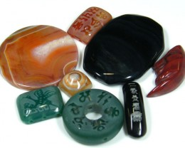 RE SELLERS DEAL SPECIAL AGATE BEADS ONLY $3.00  TR 644