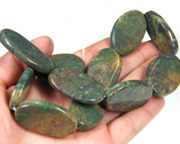 UNIQUE PATTERN BROWN /GREEN  AGATE NECKLACE TR 667