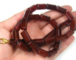 BROWN  TRIBAL AGATE NECKLACE   TR 687