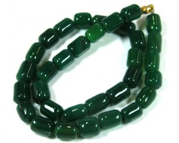 GREEN  TRIBAL AGATE NECKLACE   TR 694