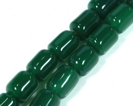 GREEN  TRIBAL AGATE NECKLACE   TR 695