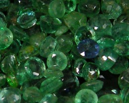 CERT FACETED COLUMBIAN EMERALDS 22.40 CTS  0125-A