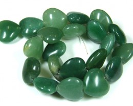 GREEN  HEART AVENTURINE BEADS STRAND    TR 699