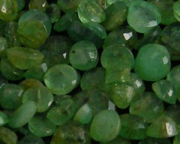 CERT FACETED COLUMBIAN EMERALDS 30.58 CTS  0117