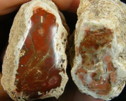 PAIR AGATE FROM NEPAL 909   CARATS  AAT 1124