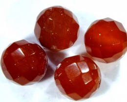 CARNELIAN FACETED BEAD (4PCS) 8.70 CTS  NP-1081